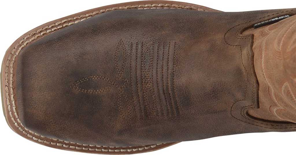 Men's Double H Abner Cowboy Boot DH4353, Medium Brown Bronco Leather, large, image 4