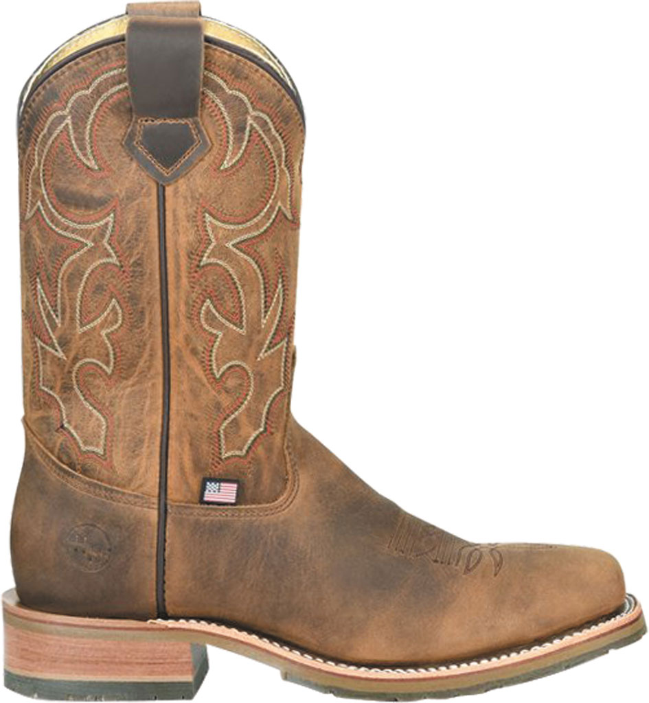 Men's Double H Anton Steel Toe Work Boot DH4637, Light Brown Old Town Folklore Leather, large, image 2