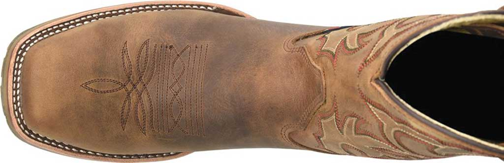 Men's Double H Anton Steel Toe Work Boot DH4637, Light Brown Old Town Folklore Leather, large, image 4