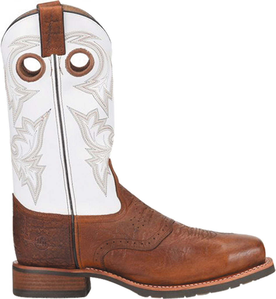 Men's Double H Marty Steel Toe Work Boot DH7003, Cognac/Natural Exotic Print Leather, large, image 2