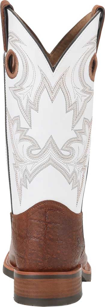 Men's Double H Marty Steel Toe Work Boot DH7003, Cognac/Natural Exotic Print Leather, large, image 3