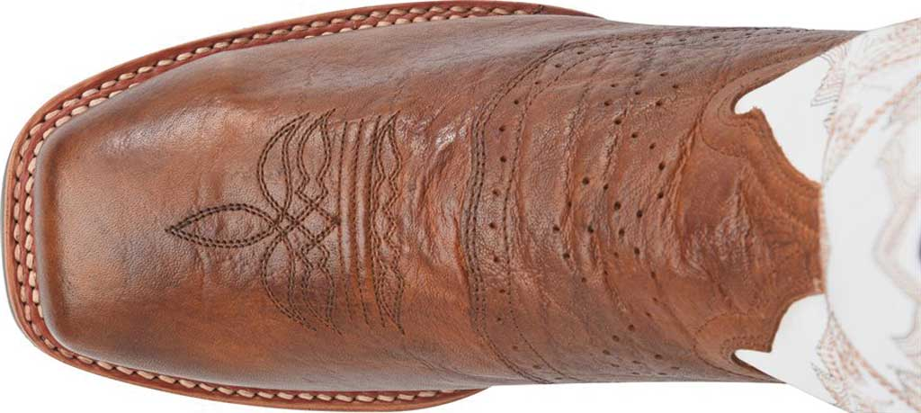 Men's Double H Marty Steel Toe Work Boot DH7003, Cognac/Natural Exotic Print Leather, large, image 4