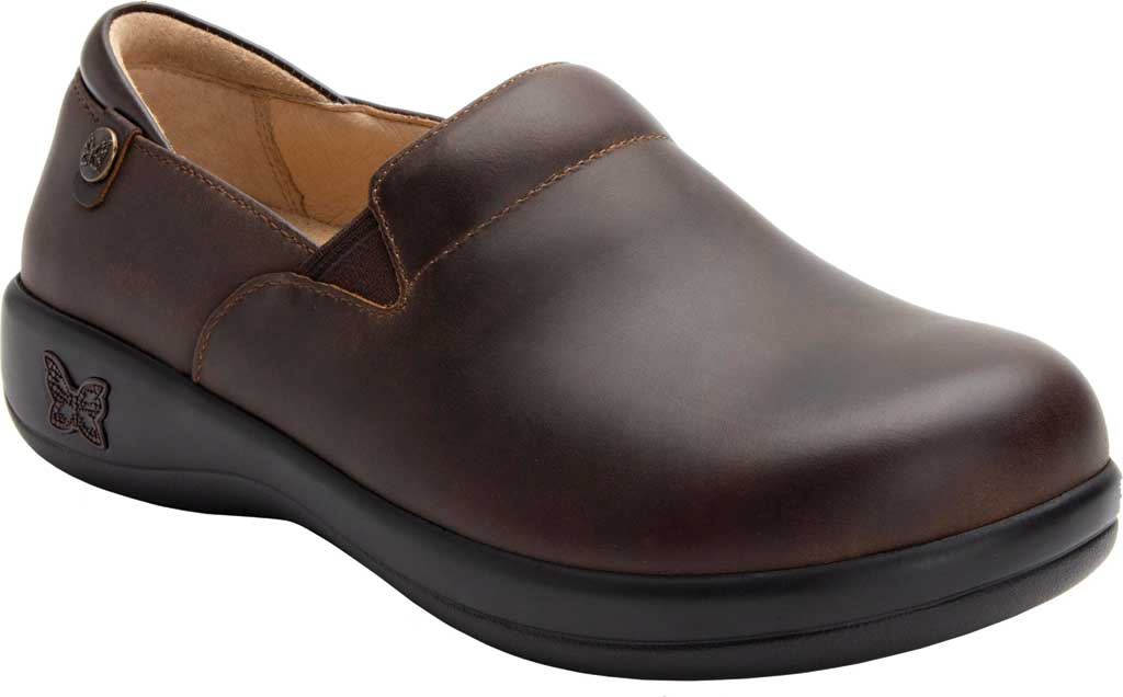 Women's Alegria by PG Lite Keli Pro Clog, Oiled Brown Leather, large, image 1