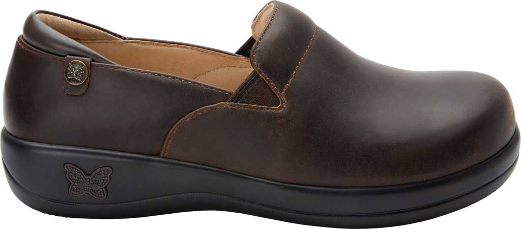 Women's Alegria by PG Lite Keli Pro Clog, Oiled Brown Leather, large, image 2