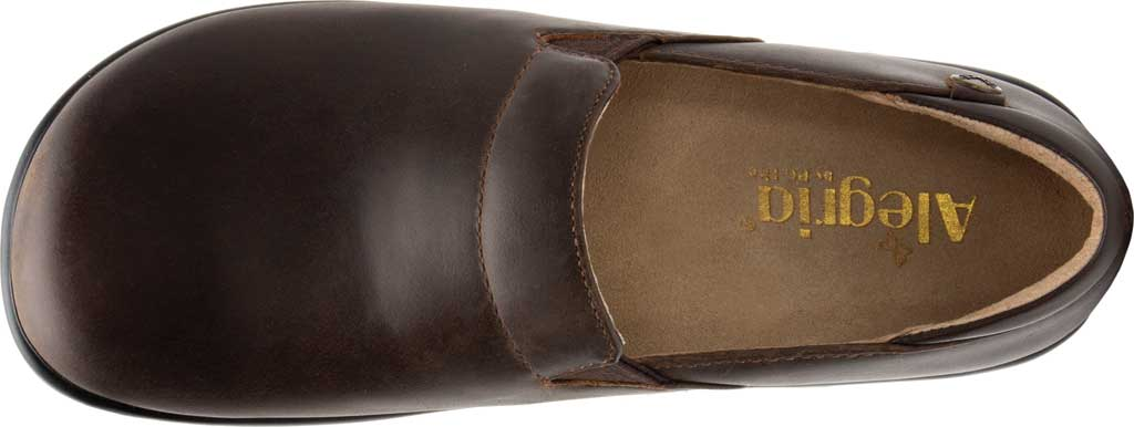 Women's Alegria by PG Lite Keli Pro Clog, Oiled Brown Leather, large, image 4
