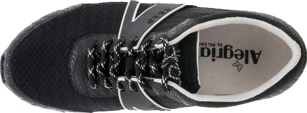 Women's Alegria by PG Lite TRAQ Qarma Sneaker, Paths Black Knit Fabric, large, image 4