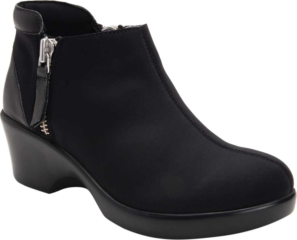 Women's Alegria by PG Lite Sloan Ankle Boot, Black Dream Fit Fabric, large, image 1