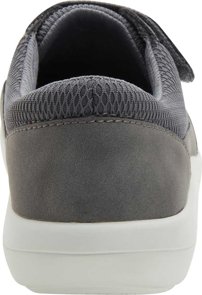 Women's Alegria by PG Lite Dahlia Hook and Loop Sneaker, Grey Relaxed Vegan Leather, large, image 3