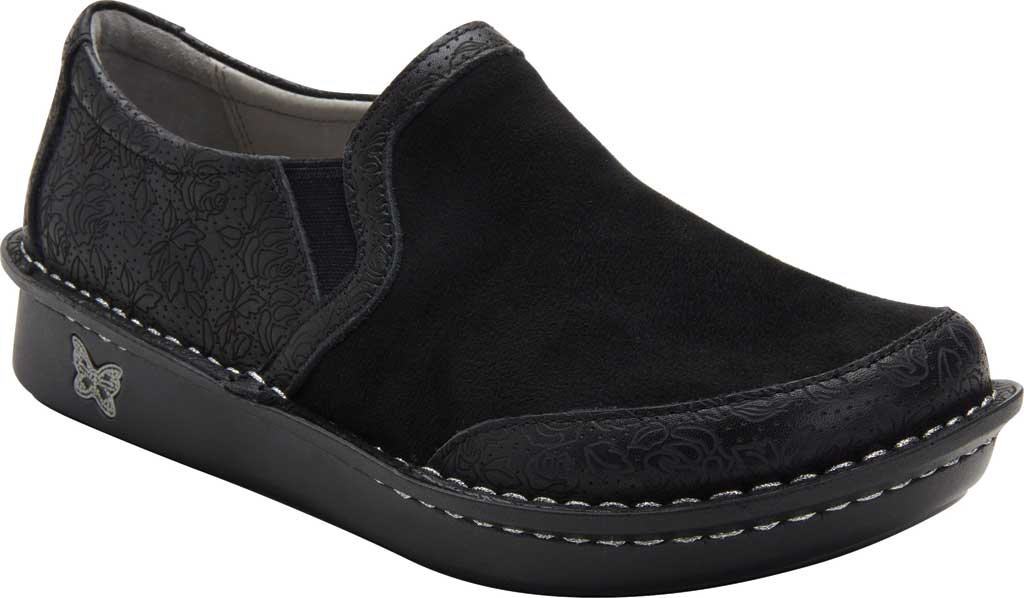 Women's Alegria by PG Lite Brook Closed Back Clog, Ink Impressions Dream Fit Leather/Neoprene, large, image 1