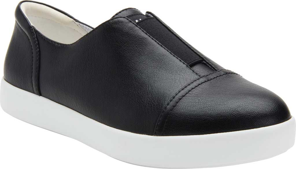 Women's Alegria by PG Lite Posy Slip On Sneaker, Black Nappa Vegan Leather, large, image 1
