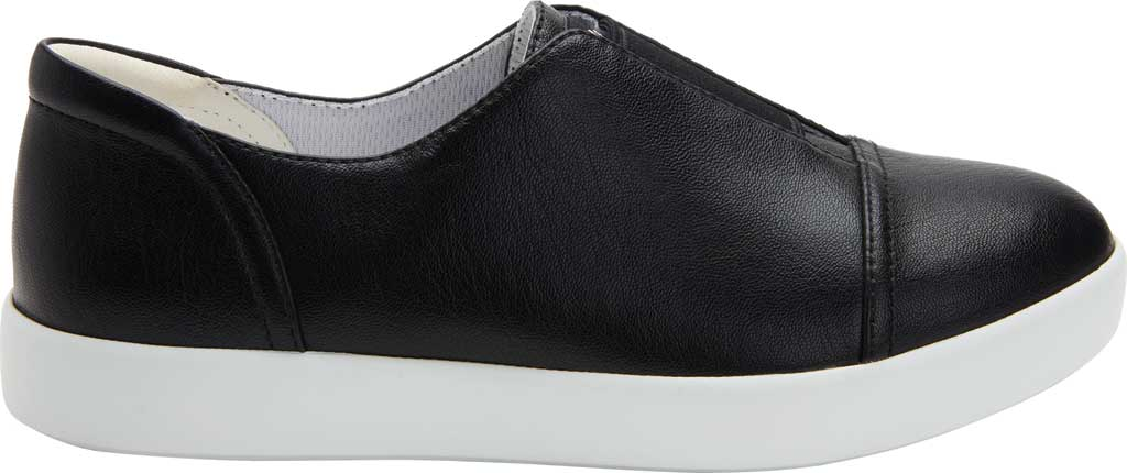 Women's Alegria by PG Lite Posy Slip On Sneaker, Black Nappa Vegan Leather, large, image 2