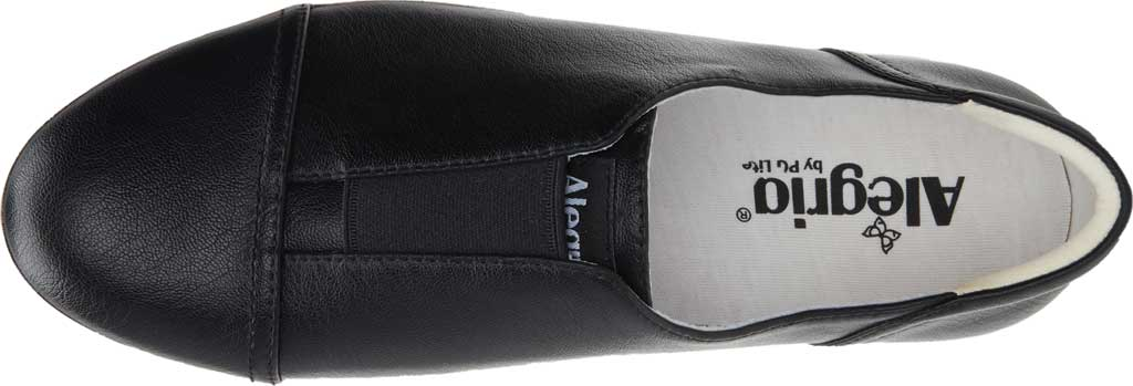Women's Alegria by PG Lite Posy Slip On Sneaker, Black Nappa Vegan Leather, large, image 4