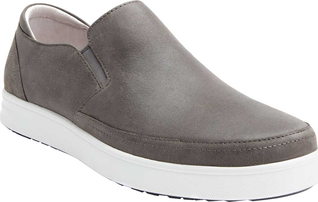 Men's Alegria by PG Lite TRAQ Quentin Slip On, Grey Leather, large, image 1