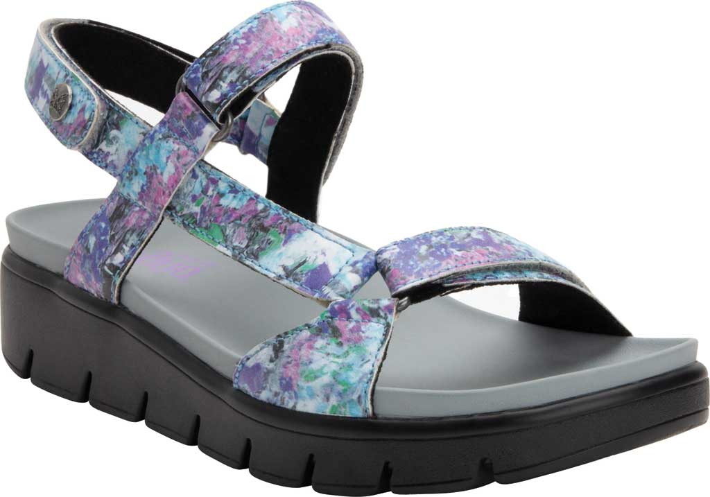 Women's Alegria by PG Lite Henna Strappy Sandal, Itchycoo Grey Vegan Leather, large, image 1