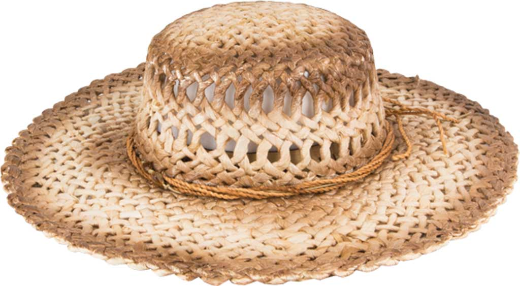 Peter Grimm Namiko Straw Hat, Tea Stain, large, image 1