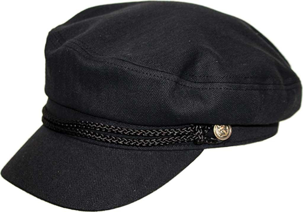 Peter Grimm Teza Newsboy Cap, Black, large, image 1