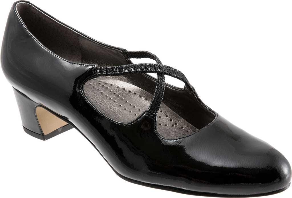 Women's Trotters Jamie, Black Patent, large, image 1