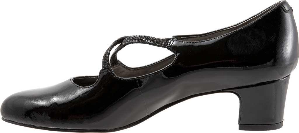 Women's Trotters Jamie, Black Patent, large, image 3