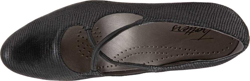 Women's Trotters Jamie, Black Soft Lizard Embossed Patent Suede, large, image 4