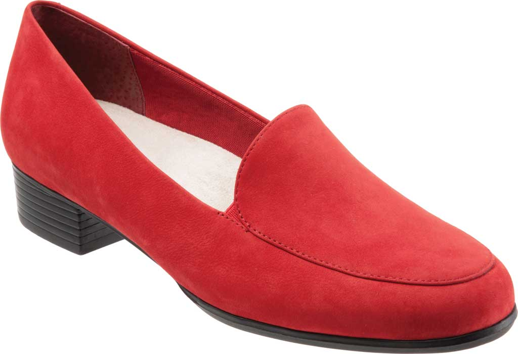 Women's Trotters Monarch Loafer, Red Nubuck, large, image 1