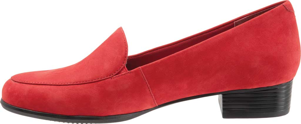 Women's Trotters Monarch Loafer, Red Nubuck, large, image 3