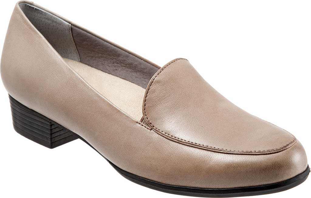 Women's Trotters Monarch Loafer, Grey Leather, large, image 1