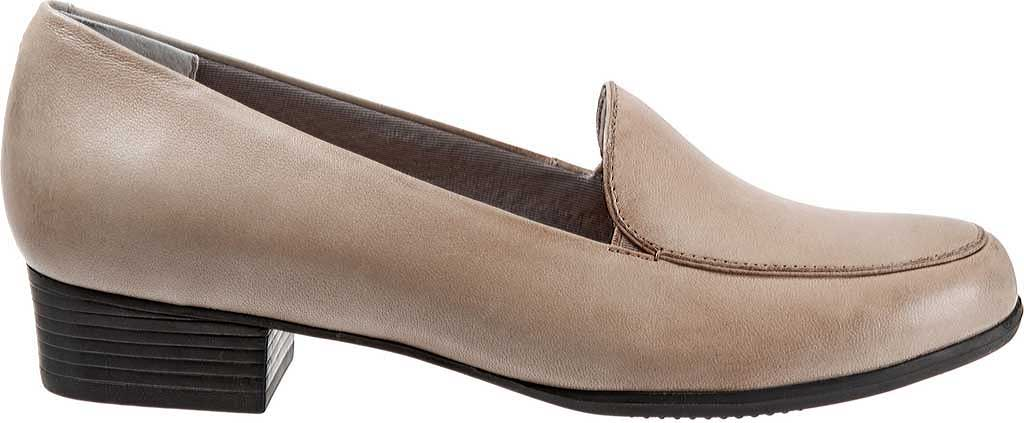 Women's Trotters Monarch Loafer, Grey Leather, large, image 2