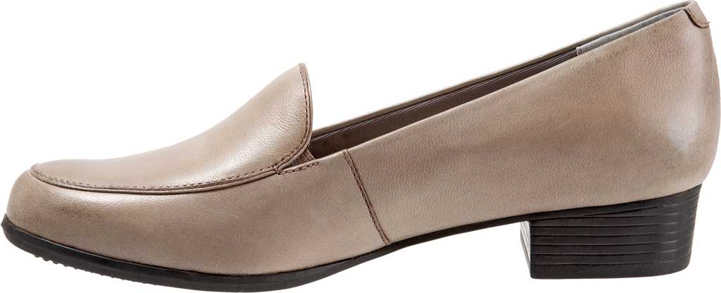 Women's Trotters Monarch Loafer, Grey Leather, large, image 3