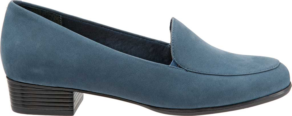 Women's Trotters Monarch Loafer, Denim Jeans Nubuck, large, image 2