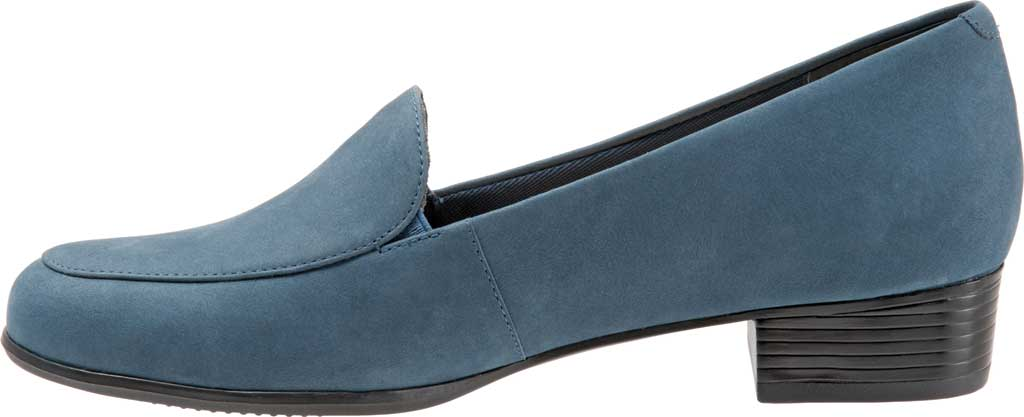 Women's Trotters Monarch Loafer, Denim Jeans Nubuck, large, image 3