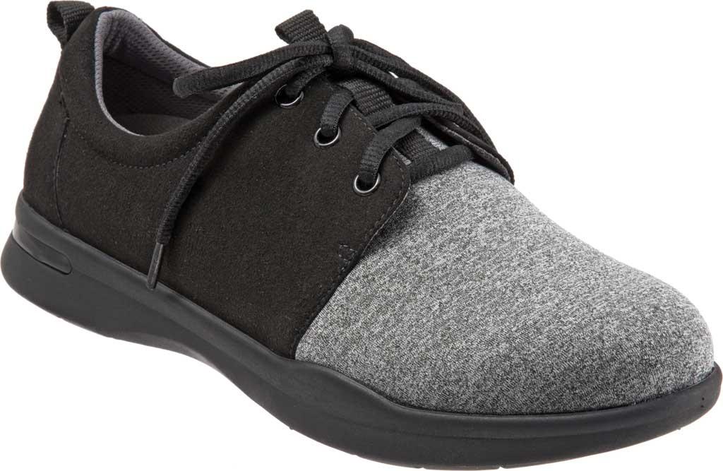 Women's SoftWalk Relax Sneaker, Black/Grey Sport Lycra/Microfiber Stretch, large, image 1