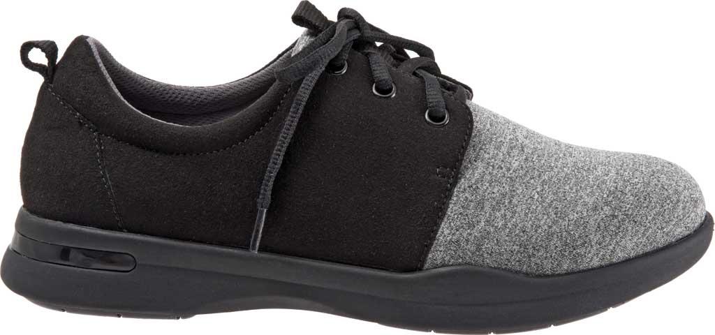 Women's SoftWalk Relax Sneaker, Black/Grey Sport Lycra/Microfiber Stretch, large, image 2