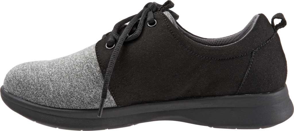 Women's SoftWalk Relax Sneaker, Black/Grey Sport Lycra/Microfiber Stretch, large, image 3