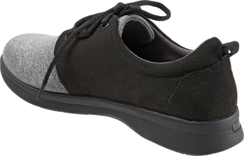Women's SoftWalk Relax Sneaker, Black/Grey Sport Lycra/Microfiber Stretch, large, image 4