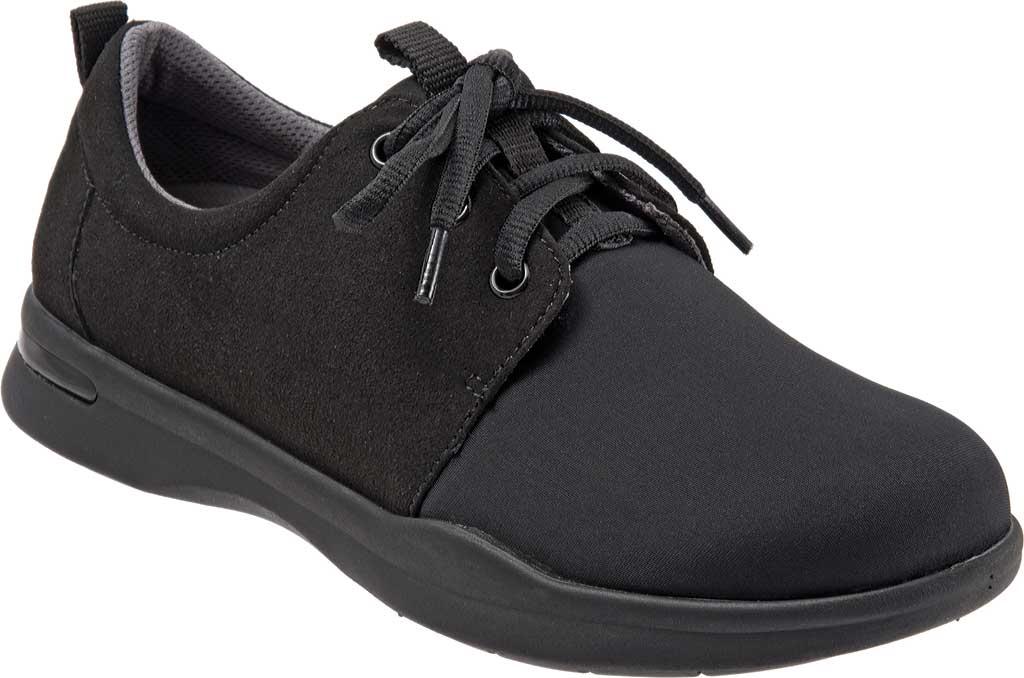 Women's SoftWalk Relax Sneaker, Black Sport Lycra/Microfiber Stretch, large, image 1