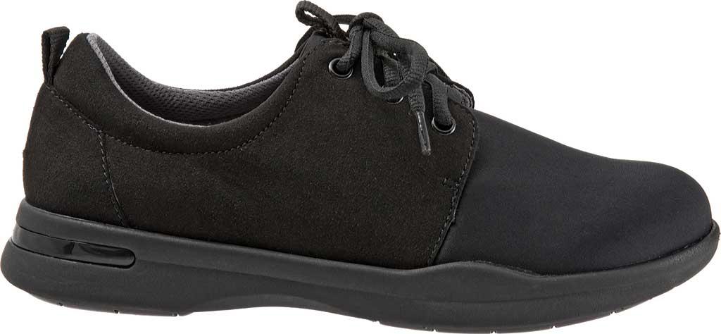 Women's SoftWalk Relax Sneaker, Black Sport Lycra/Microfiber Stretch, large, image 2