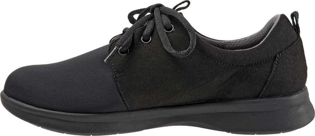 Women's SoftWalk Relax Sneaker, Black Sport Lycra/Microfiber Stretch, large, image 3