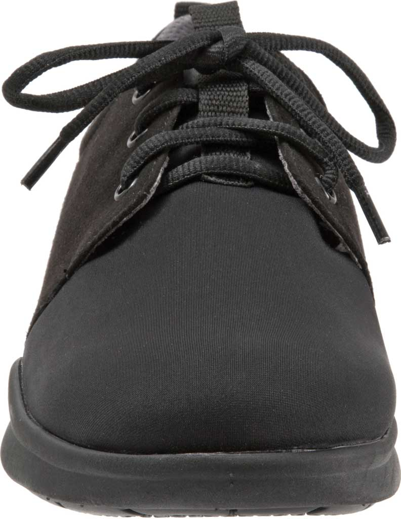 Women's SoftWalk Relax Sneaker, Black Sport Lycra/Microfiber Stretch, large, image 4