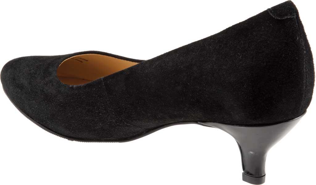 Women's Trotters Kiera Pump, Black Kid Suede Leather, large, image 4
