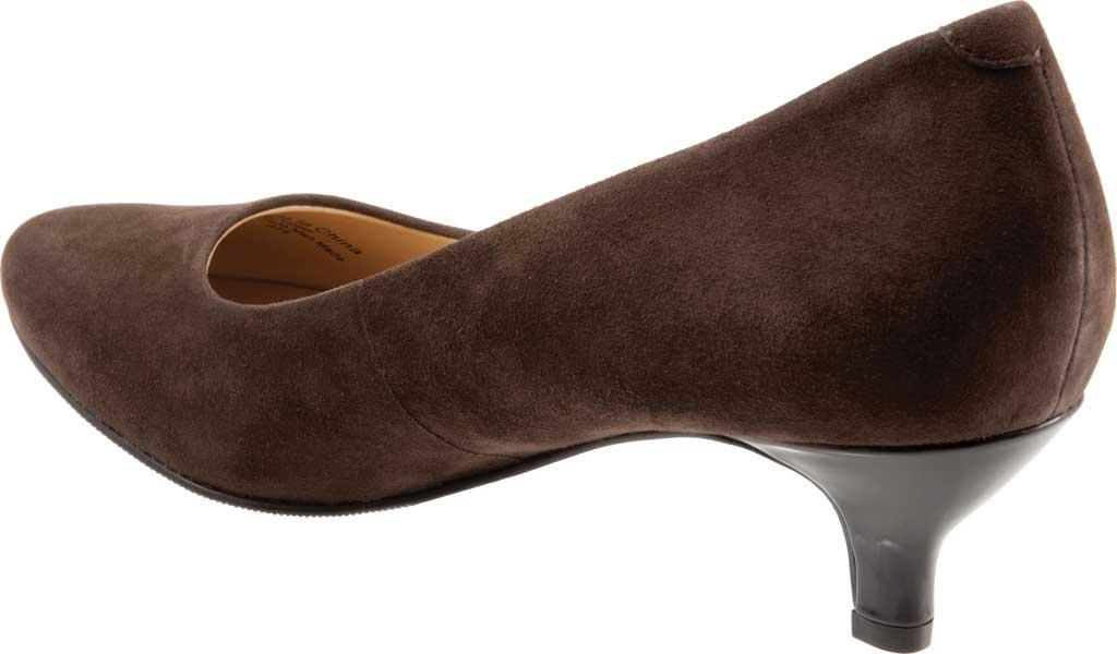 Women's Trotters Kiera Pump, Dark Brown Kid Suede Leather, large, image 4