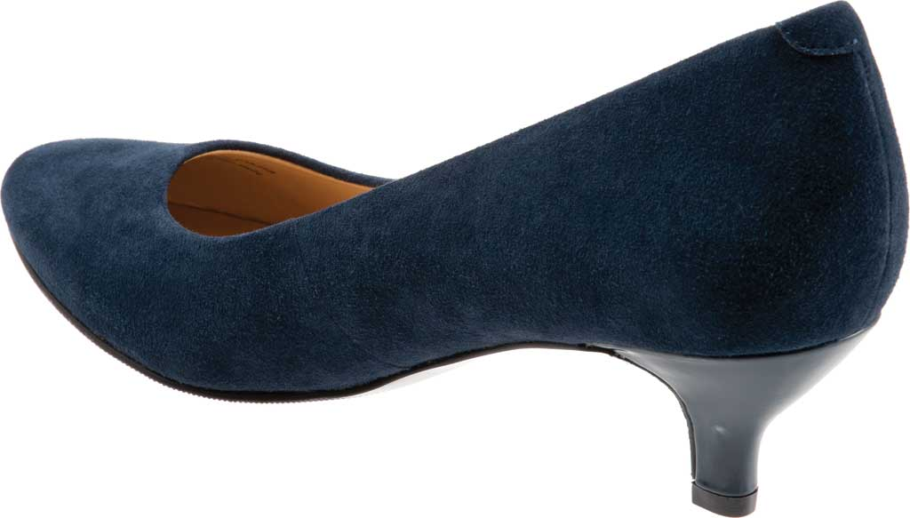 Women's Trotters Kiera Pump, Navy Kid Suede Leather, large, image 4
