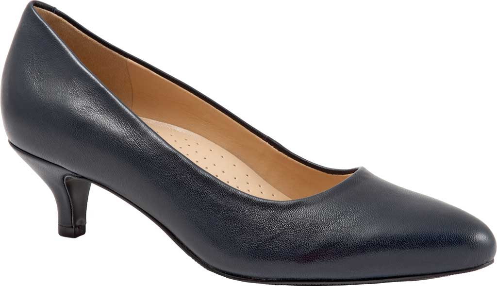 Women's Trotters Kiera Pump, Navy Soft Smooth Nappa Leather, large, image 1