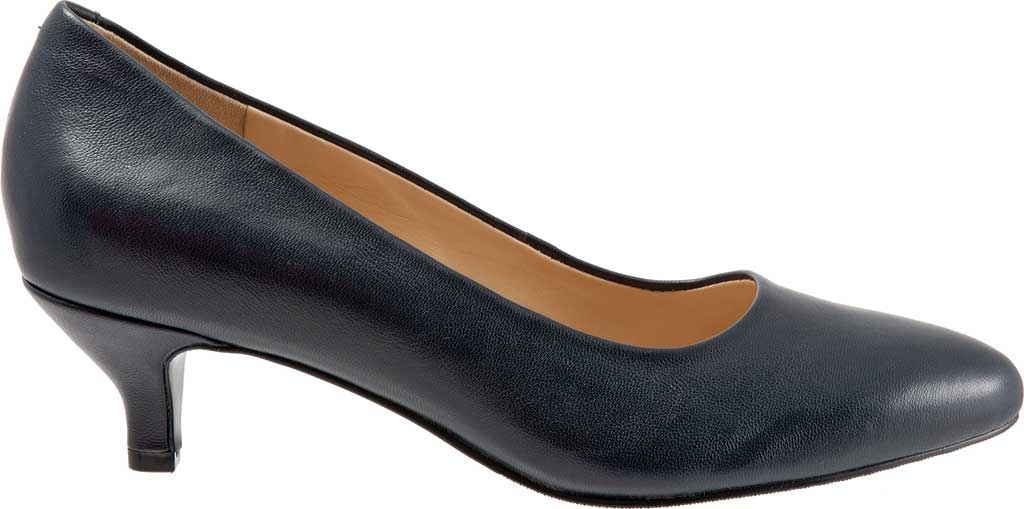 Women's Trotters Kiera Pump, Navy Soft Smooth Nappa Leather, large, image 2