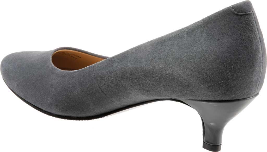 Women's Trotters Kiera Pump, Dark Grey Kid Suede Leather, large, image 4