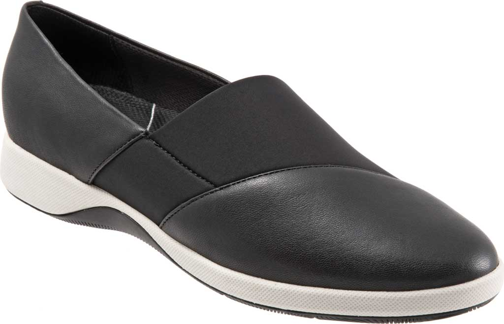 Women's SoftWalk SAVA Hana Slip-On, Black Soft Nappa Leather, large, image 1