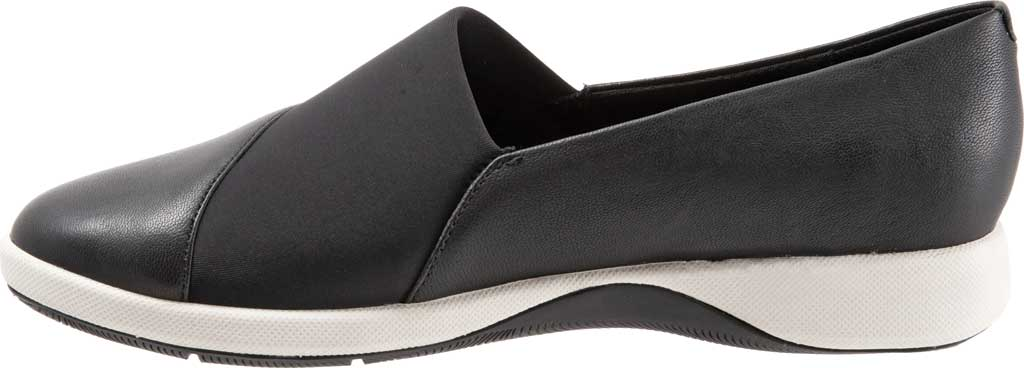 Women's SoftWalk SAVA Hana Slip-On, Black Soft Nappa Leather, large, image 3