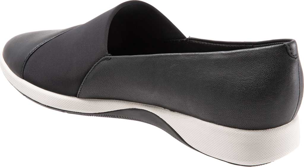 Women's SoftWalk SAVA Hana Slip-On, Black Soft Nappa Leather, large, image 4
