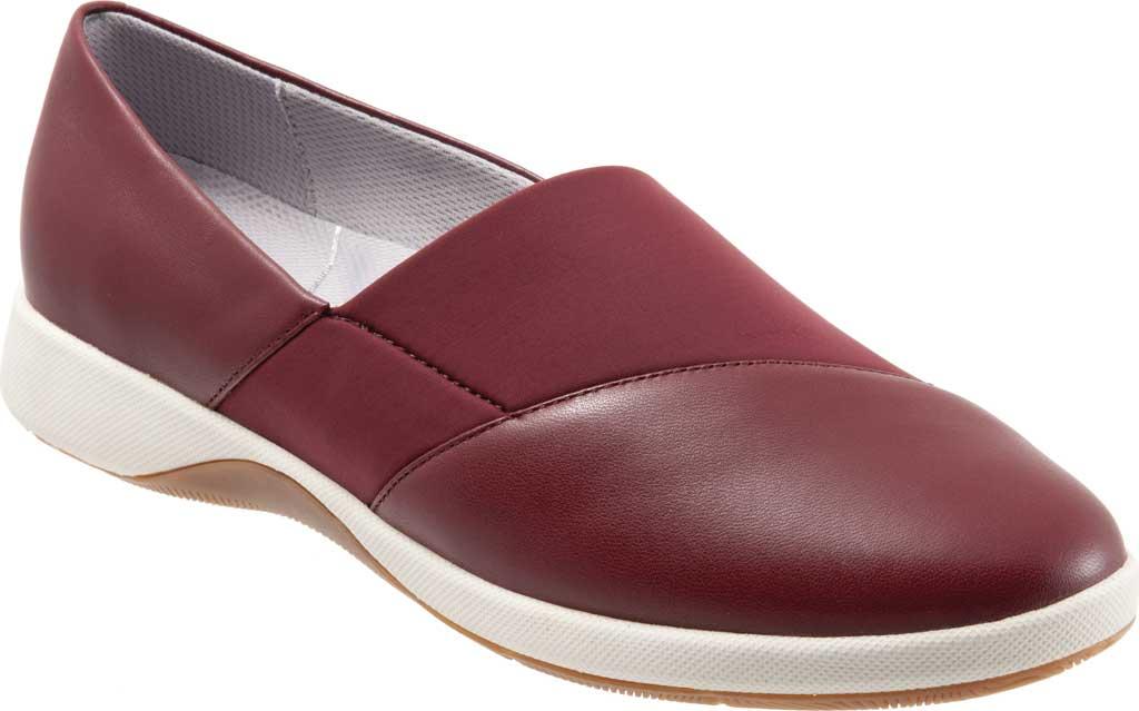 Women's SoftWalk SAVA Hana Slip-On, Dark Red Soft Nappa Leather, large, image 1