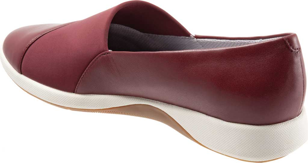Women's SoftWalk SAVA Hana Slip-On, Dark Red Soft Nappa Leather, large, image 4