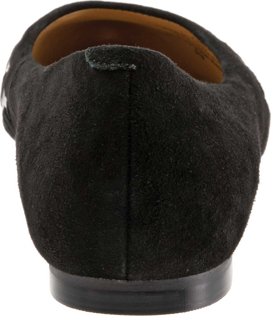 Women's Trotters Estee Woven Ballet Flat, Black Suede/Patent Leather, large, image 4